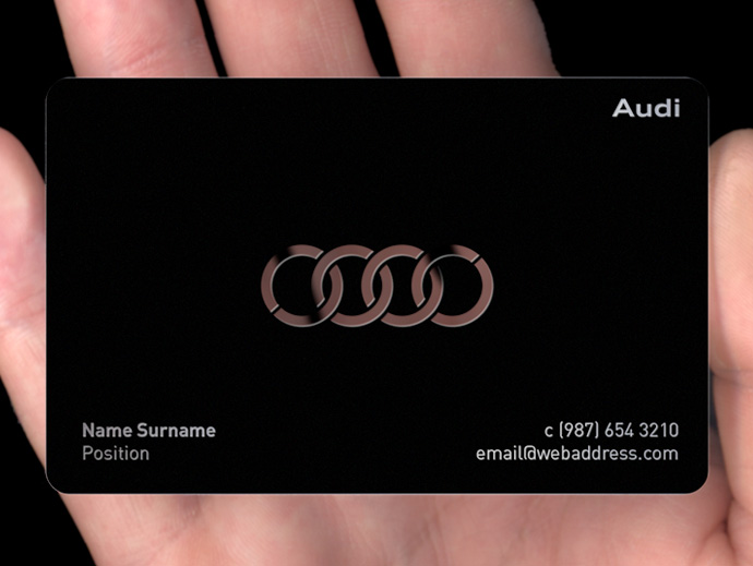 Black metal business cards plasmadesign produced using marine grade stainless steel our exclusive matt black metal business cards are truly exquisite using our photochemical production process reheart Images