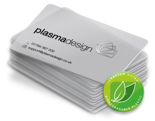 Translucent plastic card icon