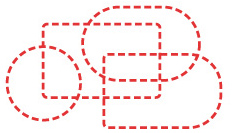 Icon depicting the varied nature of perimeter shapes possible