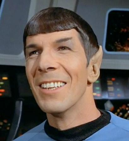 Look how happy you made Spock by coming here!