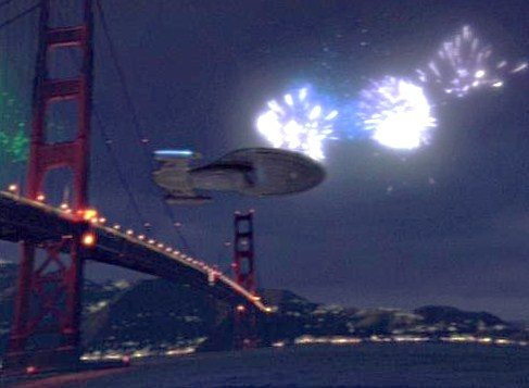 That's the fireworks show I wan to see on the 4th of July... One with Voyager flying through!