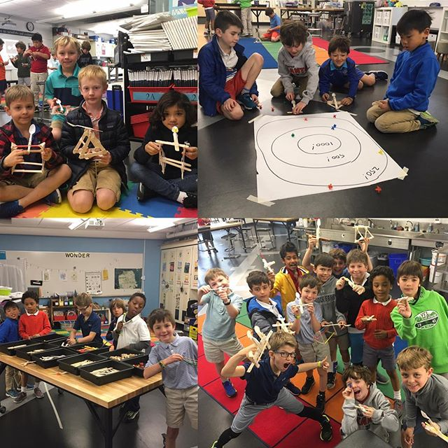 "A ""tornado"" of engineering catapults were created today. - according to fellow 5-6th grade STEM teacher. #tsbstem #secondgrade"