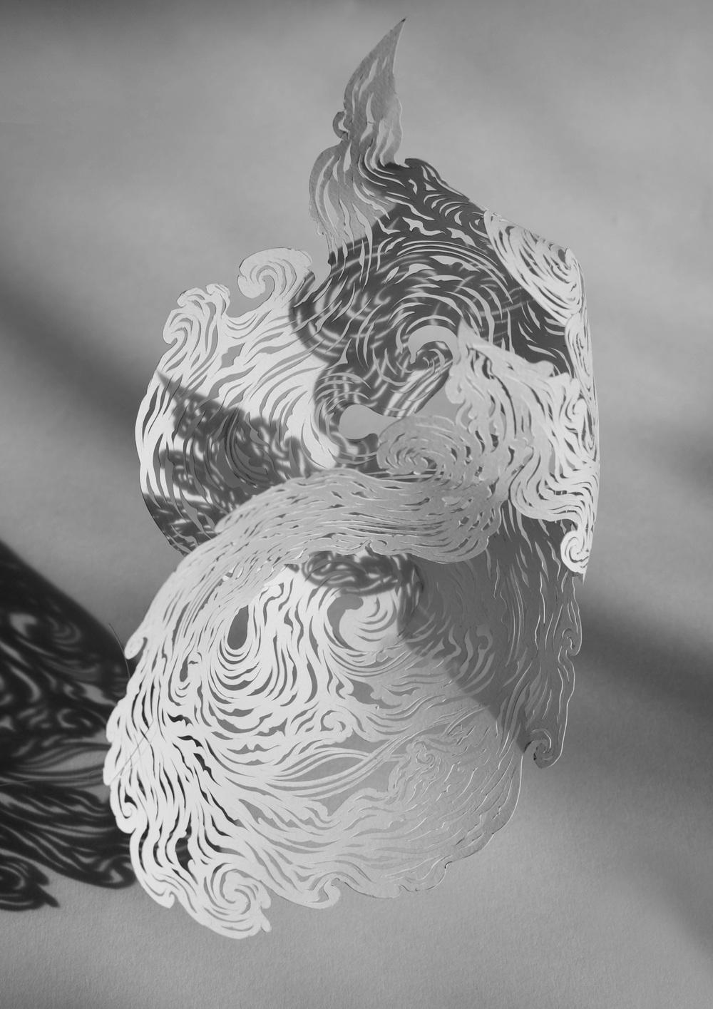 Mini Nebula - Hand cut 160gsm paper, 2015
