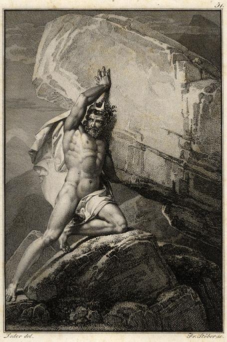 Sisyphus, Matthäus Loder (19th Century)