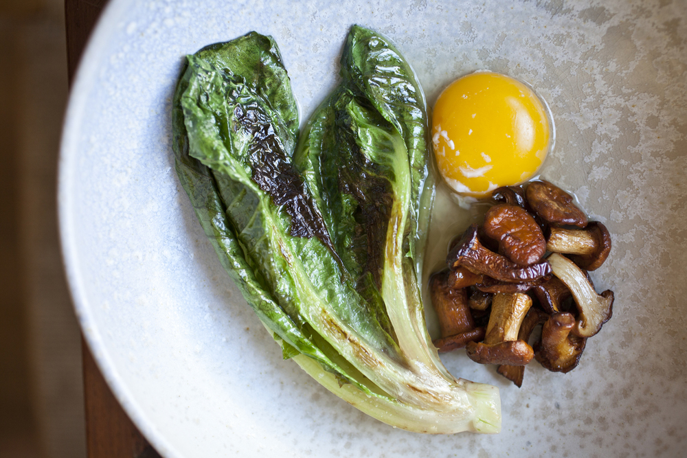Little Gem: chanterelle, egg, at Luksus