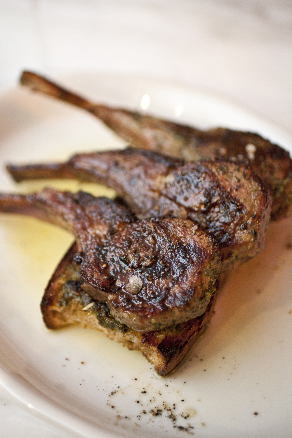 Wood-Grilled Lamb Chops scottadito at Marco's