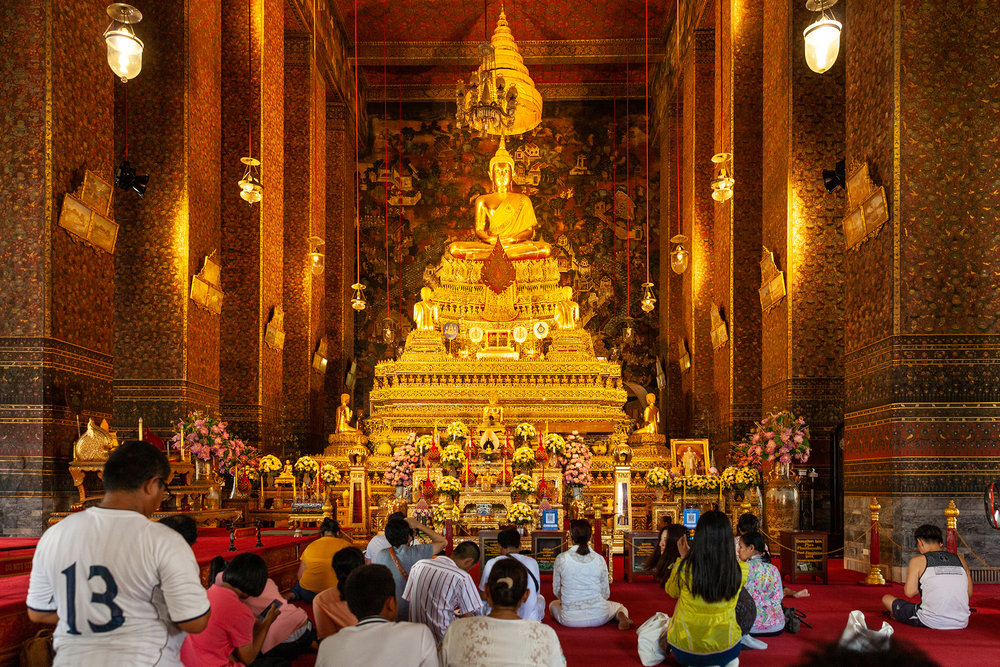 Phra Ubosot, the holiest prayer room inside Wat Pho