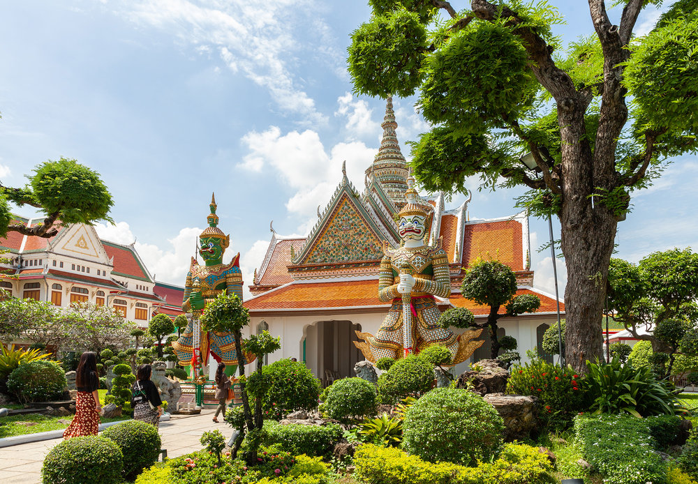 the Ordination Hall at the front entrance of Wat Arun