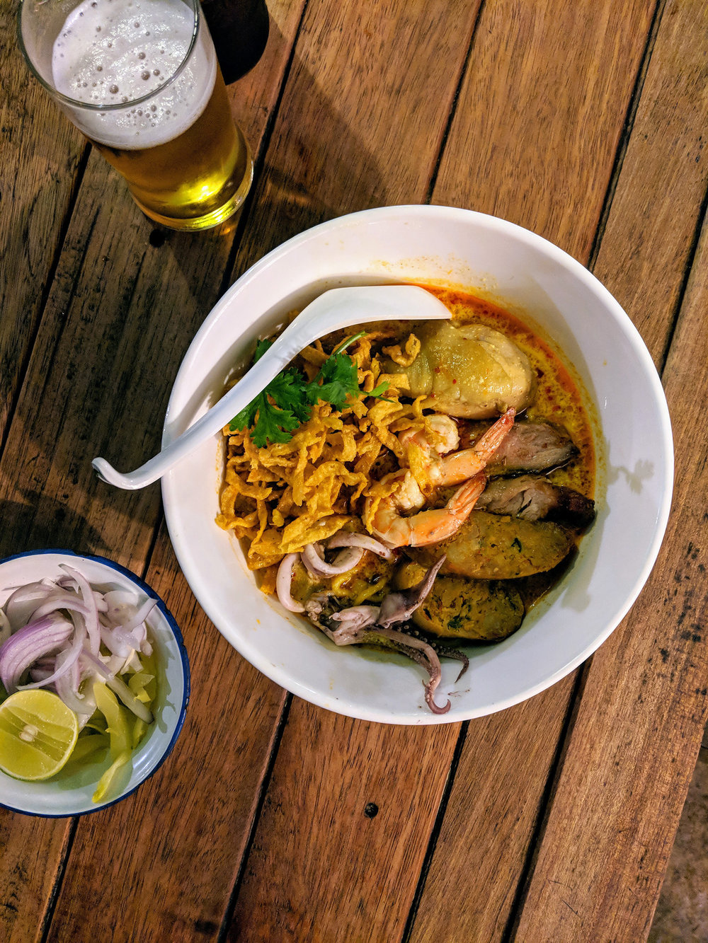 "A delicious bowl of ""everything"" Kao Soi at Kao Soi Nimman"