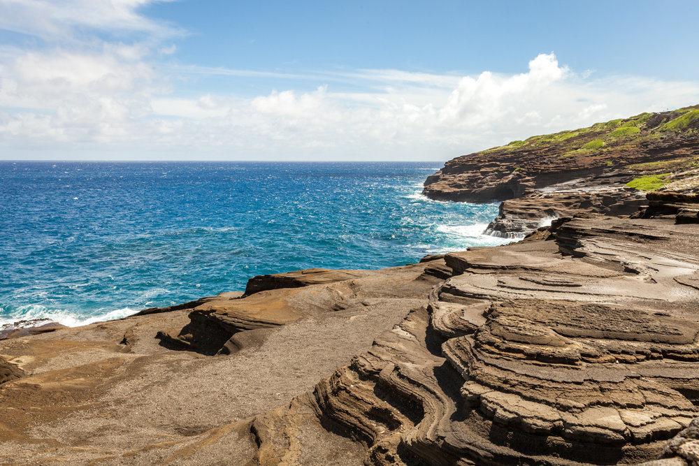 Volcanic rock formations at Makapuʻu Lookout