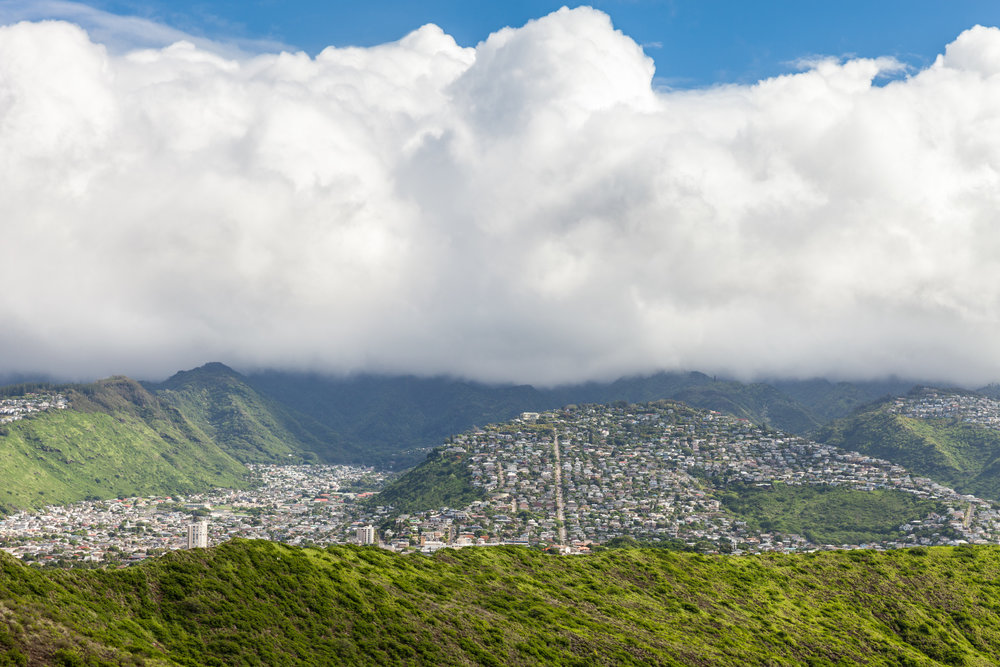 View of Wilhelmina Rise from Diamond Head