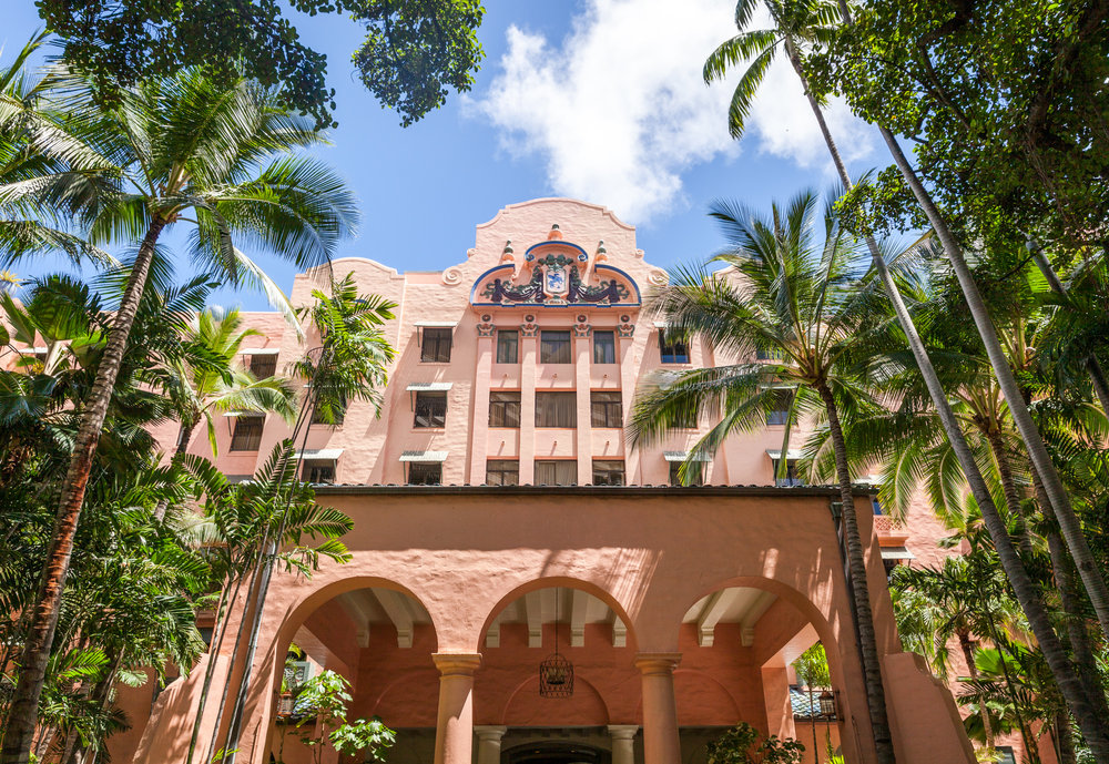 The beautiful Royal Hawaiian Hotel