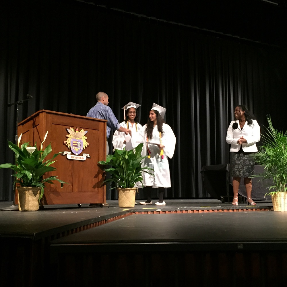 HAYFIELD SCHOLARSHIP CEREMONY - JUNE, 2015