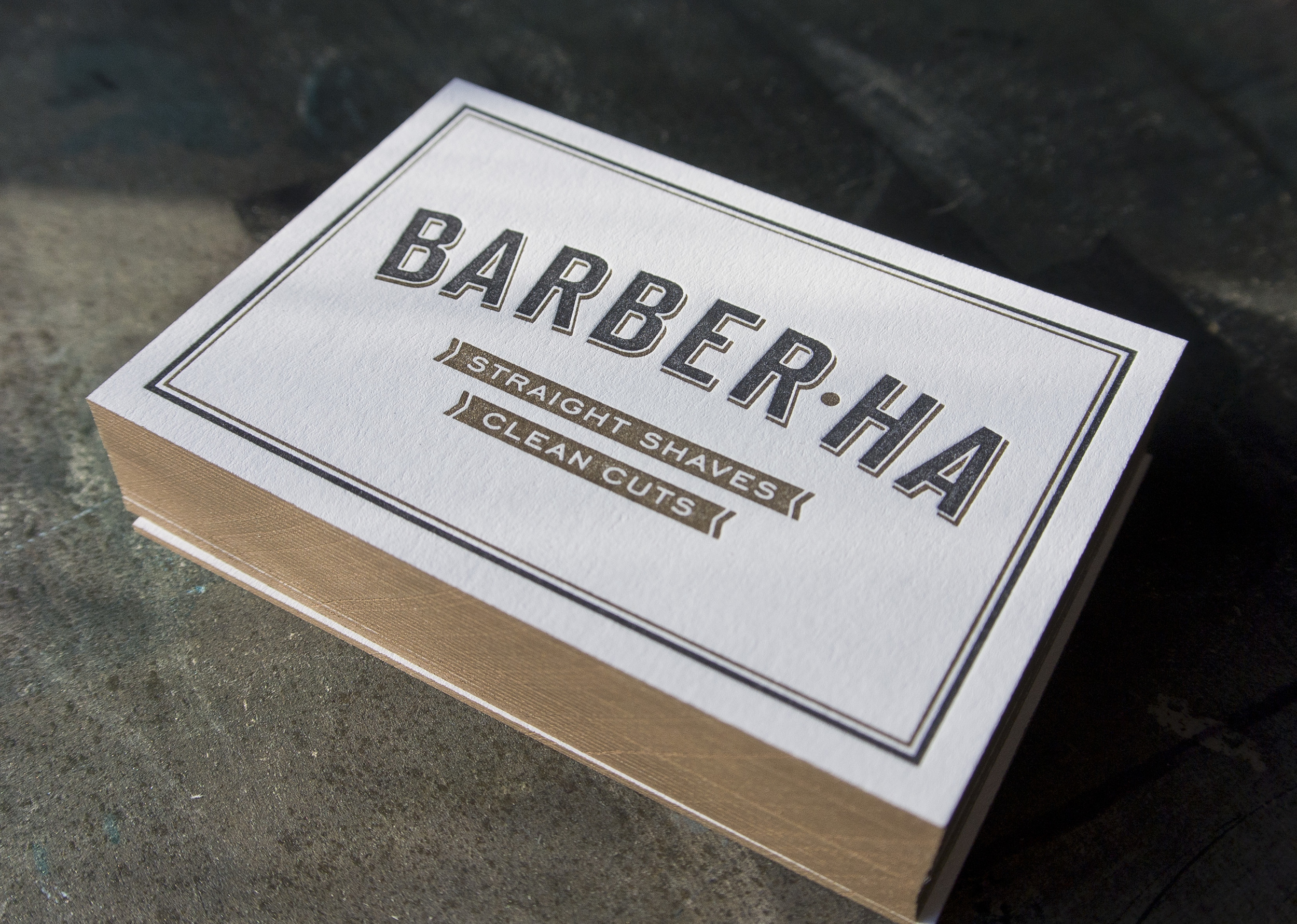 Barber Ha Business Cards — Fort Heavy