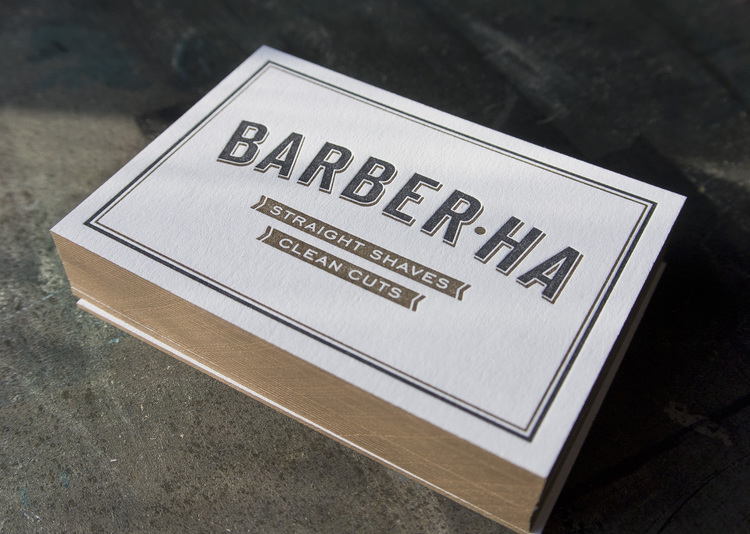 Barber ha business cards fort heavy finishing edge colouring reheart Image collections