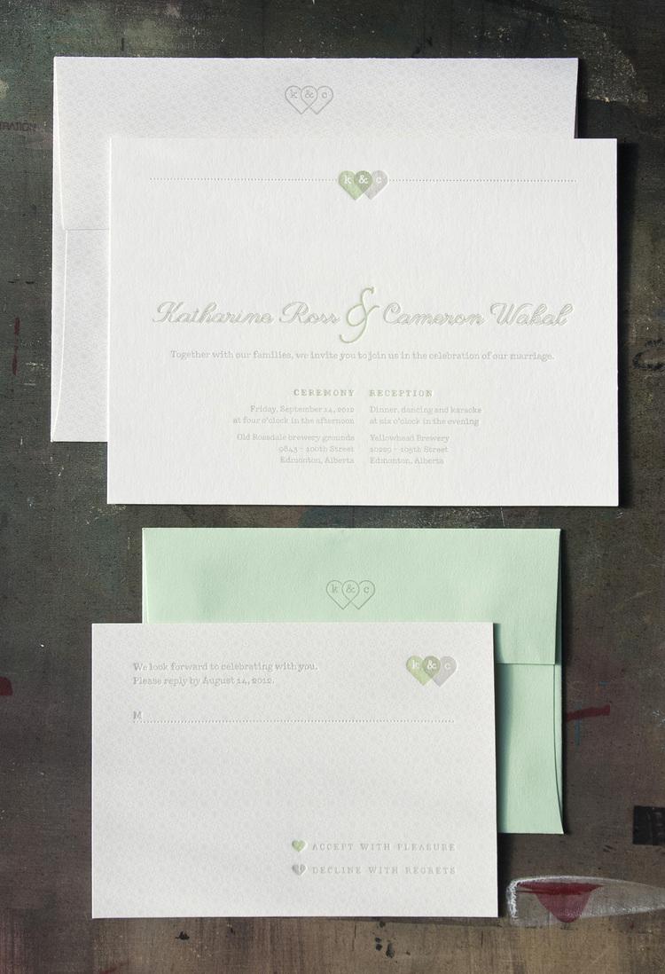 Kate & Cameron Wedding Stationery — Fort Heavy