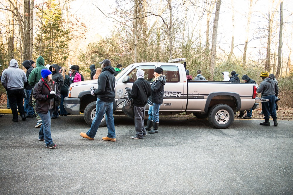 The Ranger truck at the beginning of the trails.