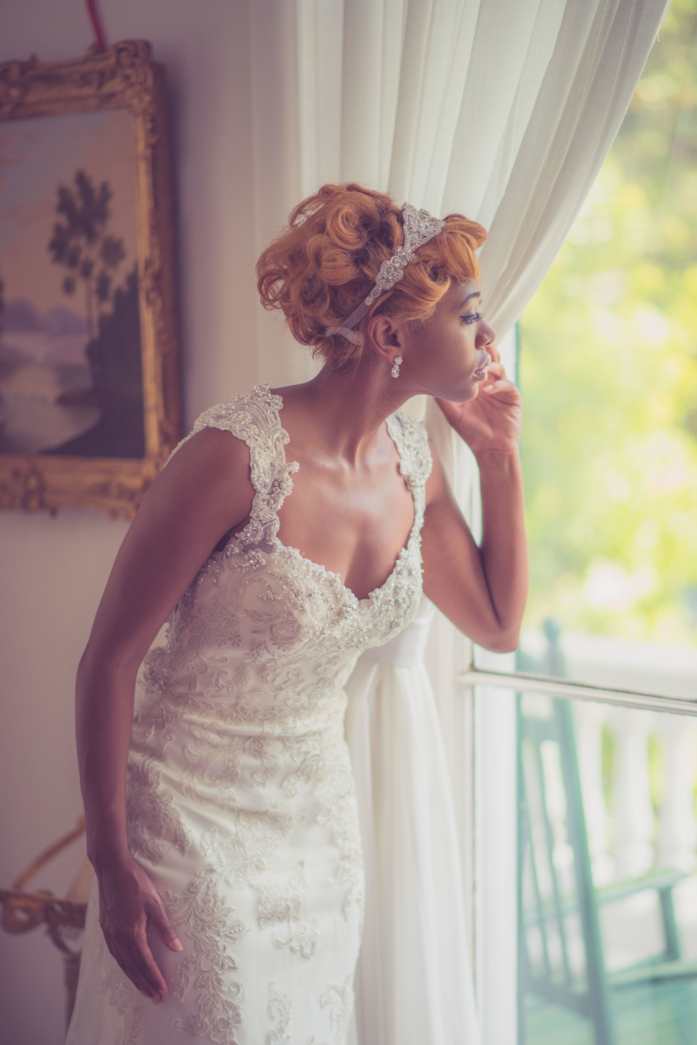 Bridal Session at the Bellamy Mansion