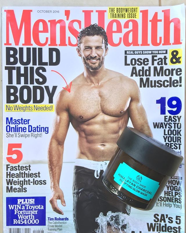 @mrtimrobards - one of the last year's retouching favourites & the new beauty regiment following @menshealthza April issue advice on #charcoalmask from @thebodyshopsouthafrica. #retouchrepublic_tearsheets