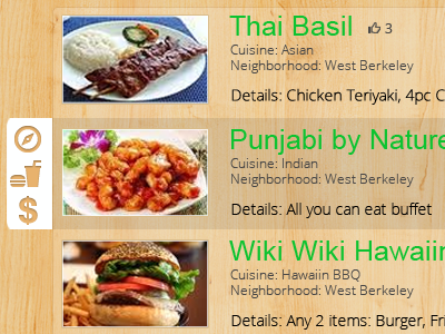 A snippet of the Grubsmart webapp.