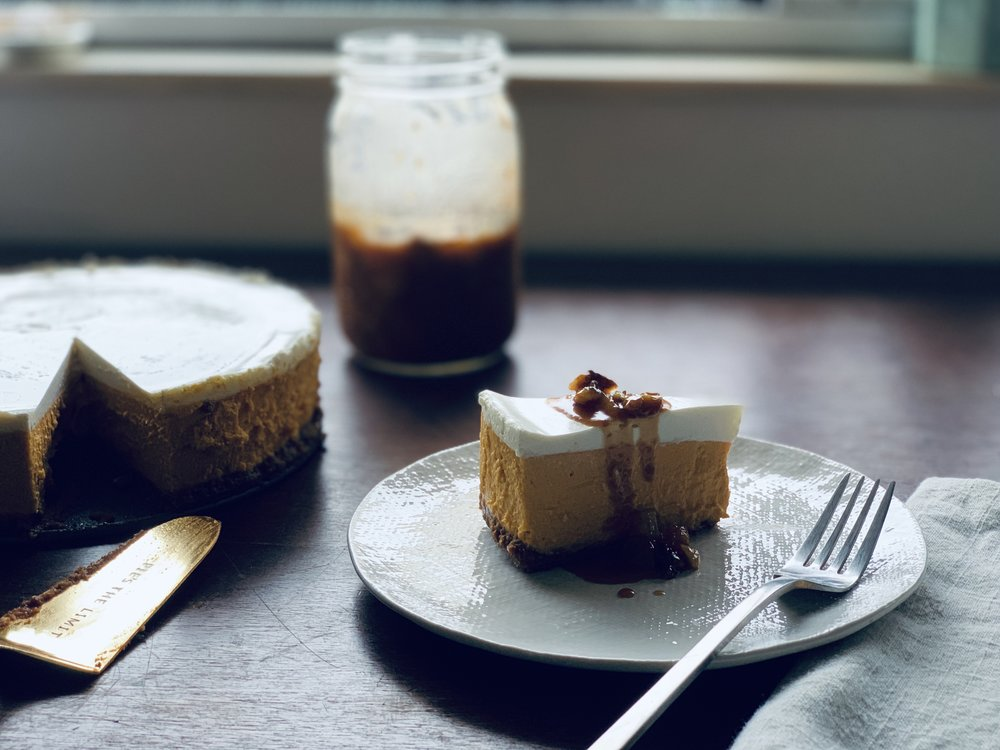 Carrot Cake Cheesecake with caramel sauce.jpg