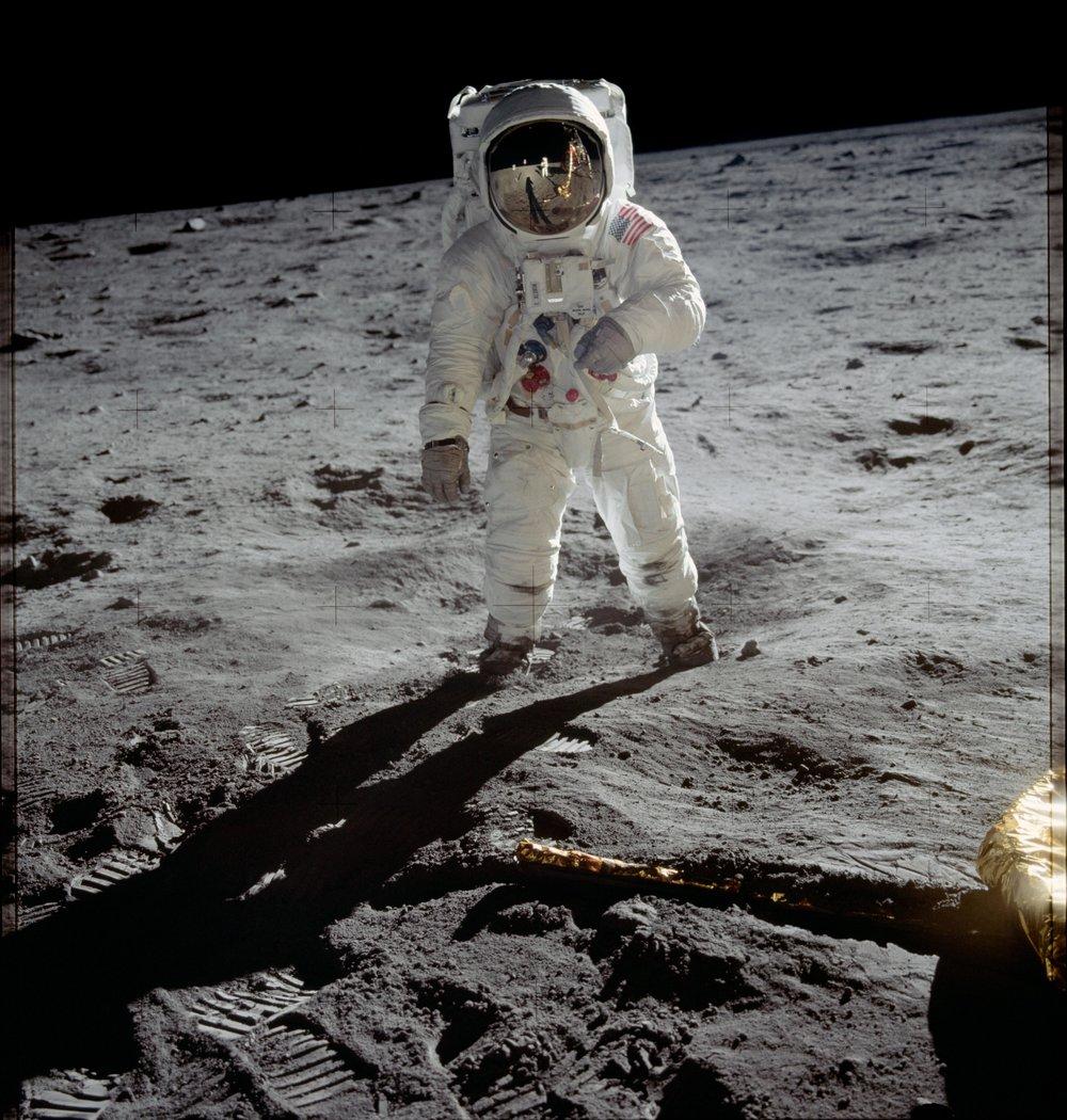 Buzz Aldrin, Apollo 11, July 21, 1969