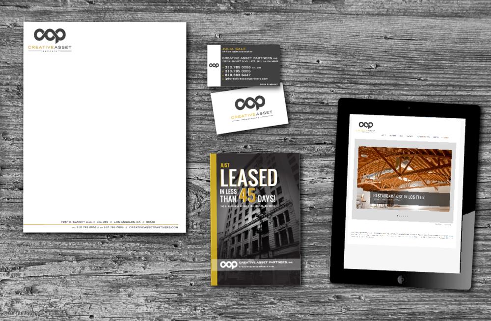 PROJECT: Identity, Print & Web  CLIENT: Creative Asset Partners