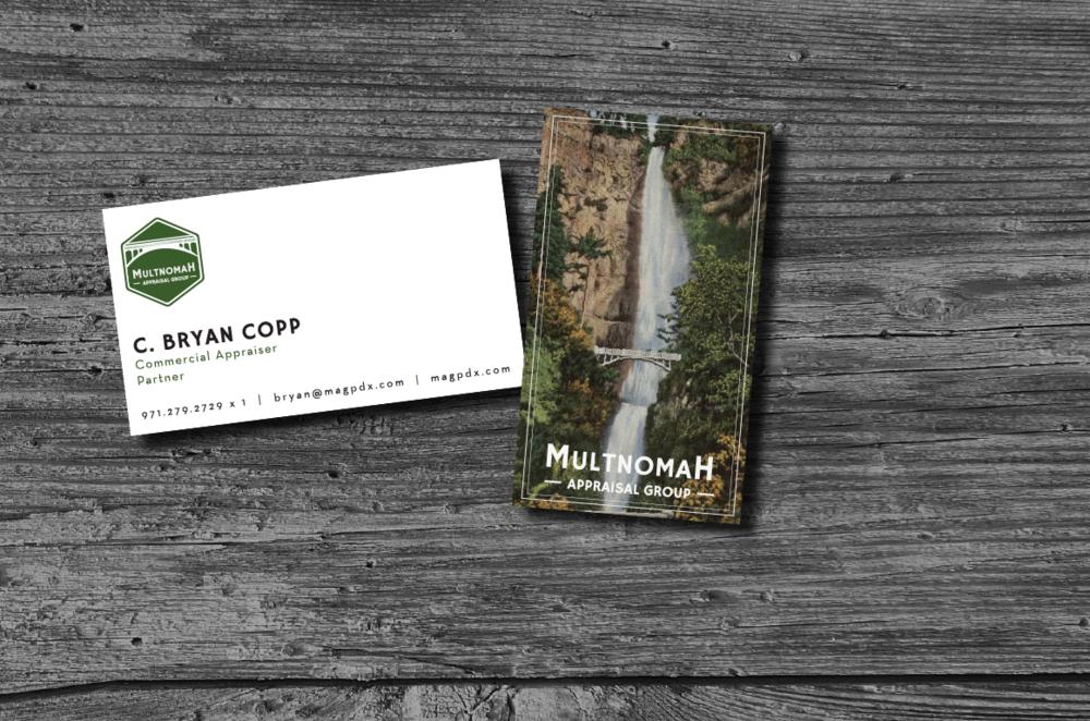 CLIENT: Multnomah Appraisal Group  PORJECT: Branding & Print Design