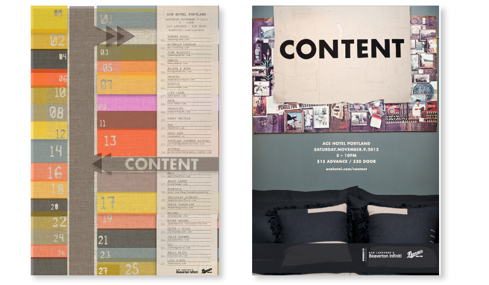 CLIENT: Ace Hotel Portland  PROJECT: Content, Signage, Overall branding and collateral for signage, web and print campigns