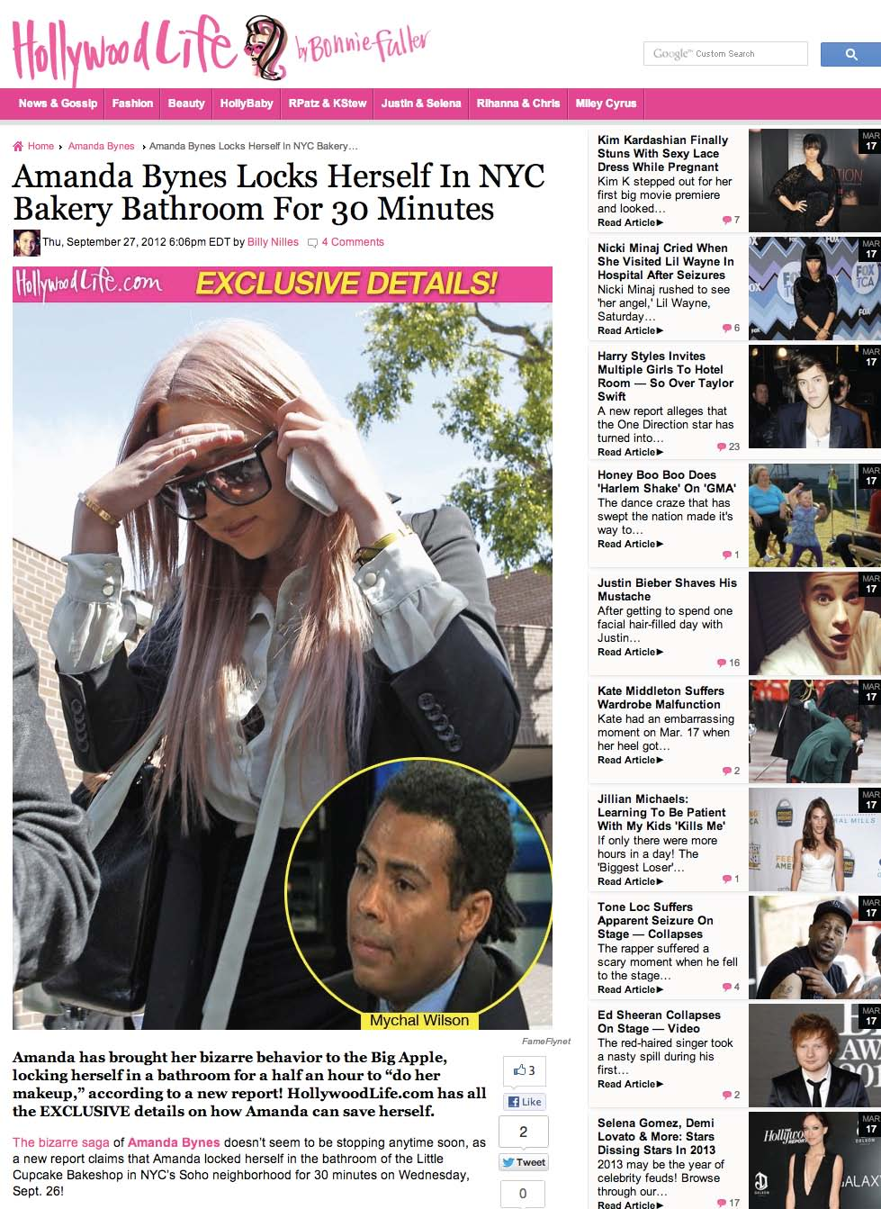 Amanda Bynes Locks Herself In NYC Bakery Bathroom For 30 Minutes