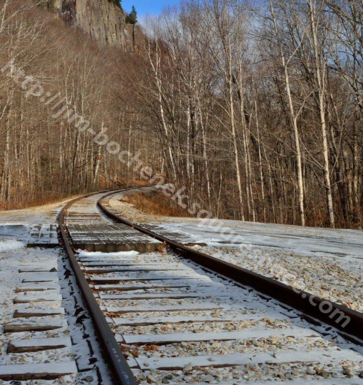 Railroad Tracks at Falls Arethusa Falls NH 11-29-12.jpg