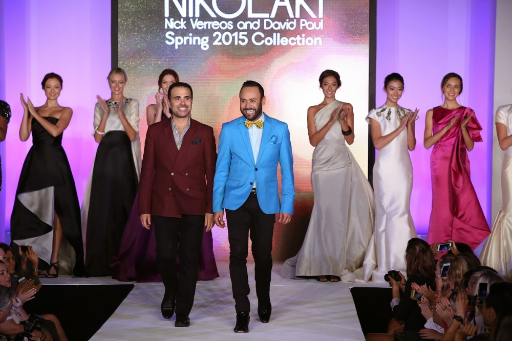 Nick Verreos & David Paul debut the Spring 2015 NIKOLAKI Collection at Style Week OC