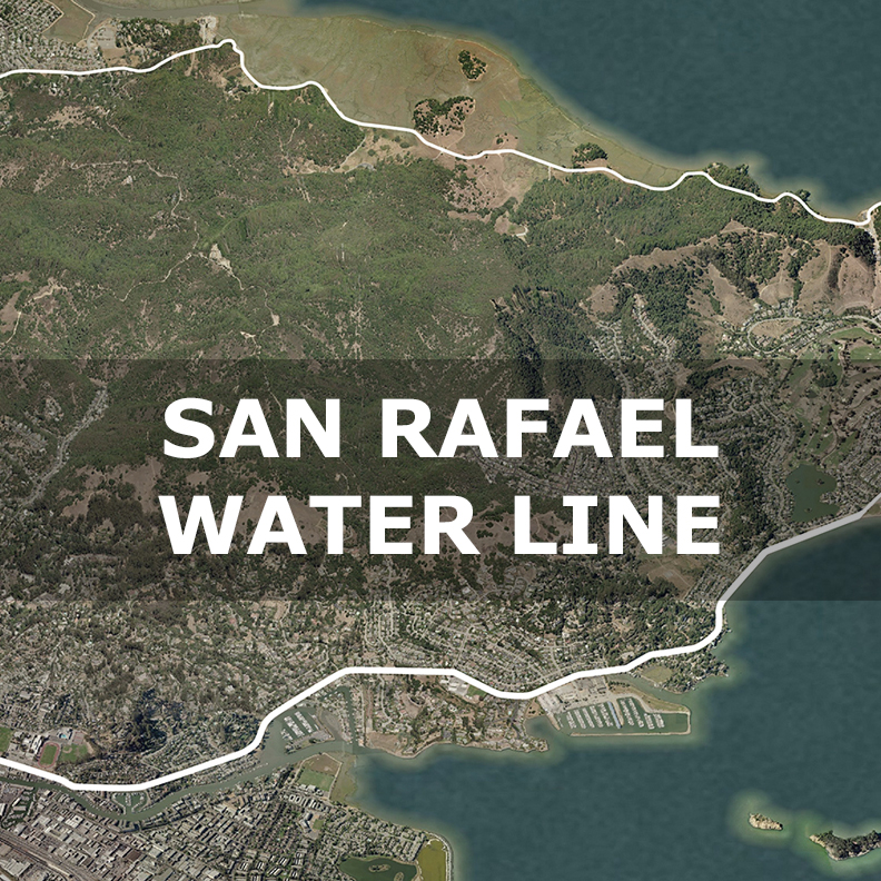 San Rafael Waterline sea level rise California