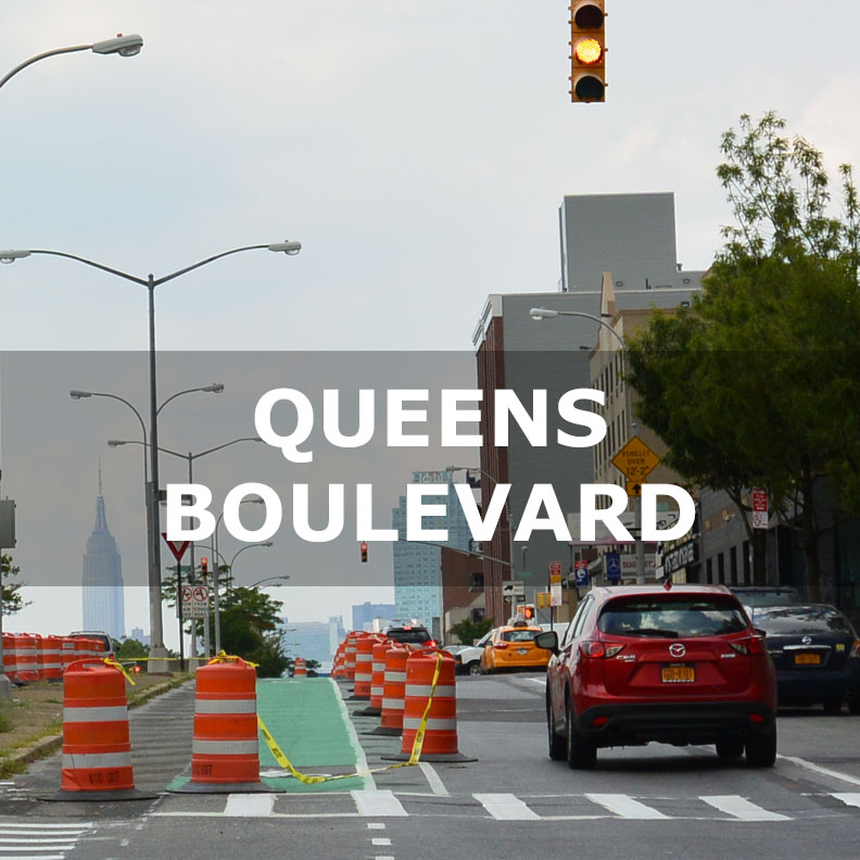 QUEENS BOULEVARD NEW YORK CITY VISION ZERO DEBLASIO