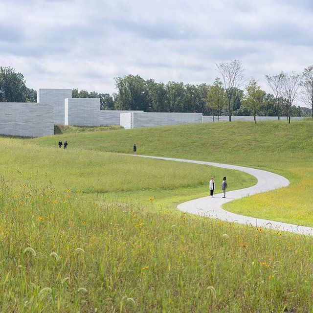 This remarkable place opened today. We are honored to have been a part of the odyssey. 📸 Iwan Baan . . . . @glenstonemuseum @pwpla @thomasphiferandpartners #slowart #slowlandscape #landscapearchitecture #postwarart #thisislandscapearchitecture #journeyisthedestination #architecture #jeffkoons