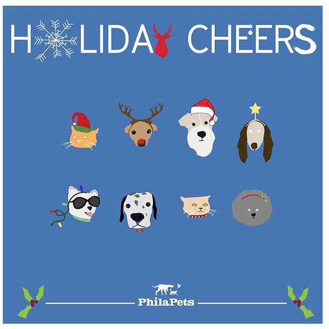 HAPPY HAPPY HOLIDAYS TO ALLLLL! From yours truly, #philapets ! 🕊🐇🐈🐩🐕⛄️🎄🍾🍪🕯🎅🏼🎉💙 Hope everyone and their furry friends are enjoying their time together!  #philly #dogwalking #petsitting #seasonsgreetings #rittenhouse #christmas2015 #dogsinhats #catsinhats #petcostume