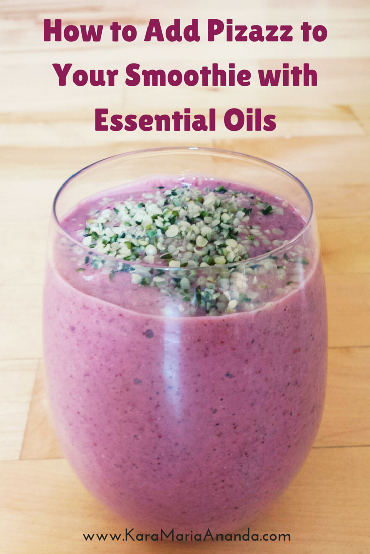Berry Citrus Smoothie with Wild Orange and Lime Essential Oils. Essential oils are amazing for health and wellness. Sign up for a free essential oils consultation here: www.KaraMariaAnanda.com/doterra #essentialoils #doterra #recipe
