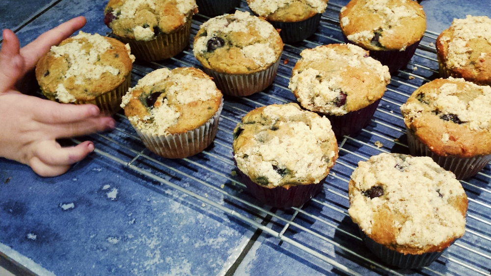 Blueberry Lemon Muffins with Cream Cheese Filling & Streusel Topping (Gluten Free Too!)