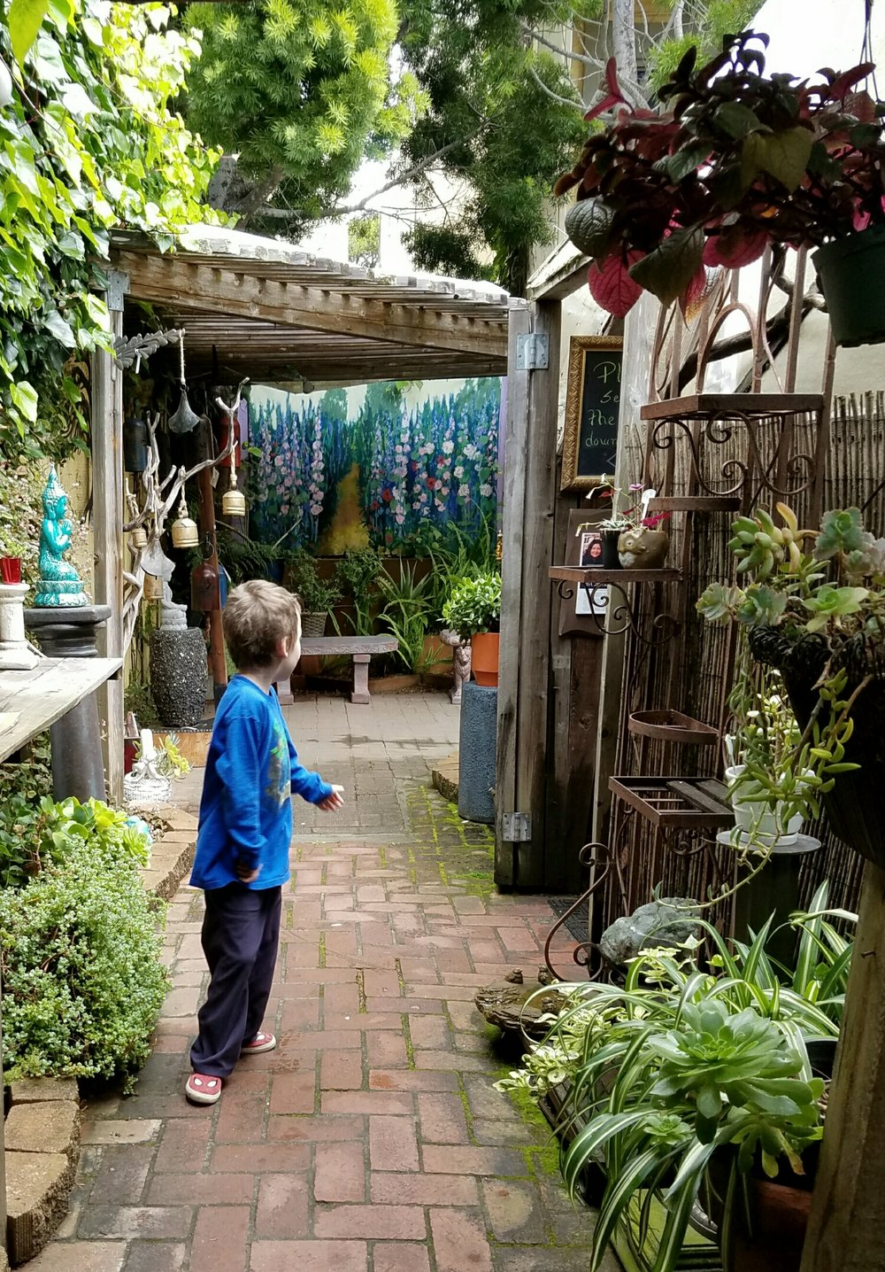 The Secret Garden in the village of Carmel By the Sea, California.