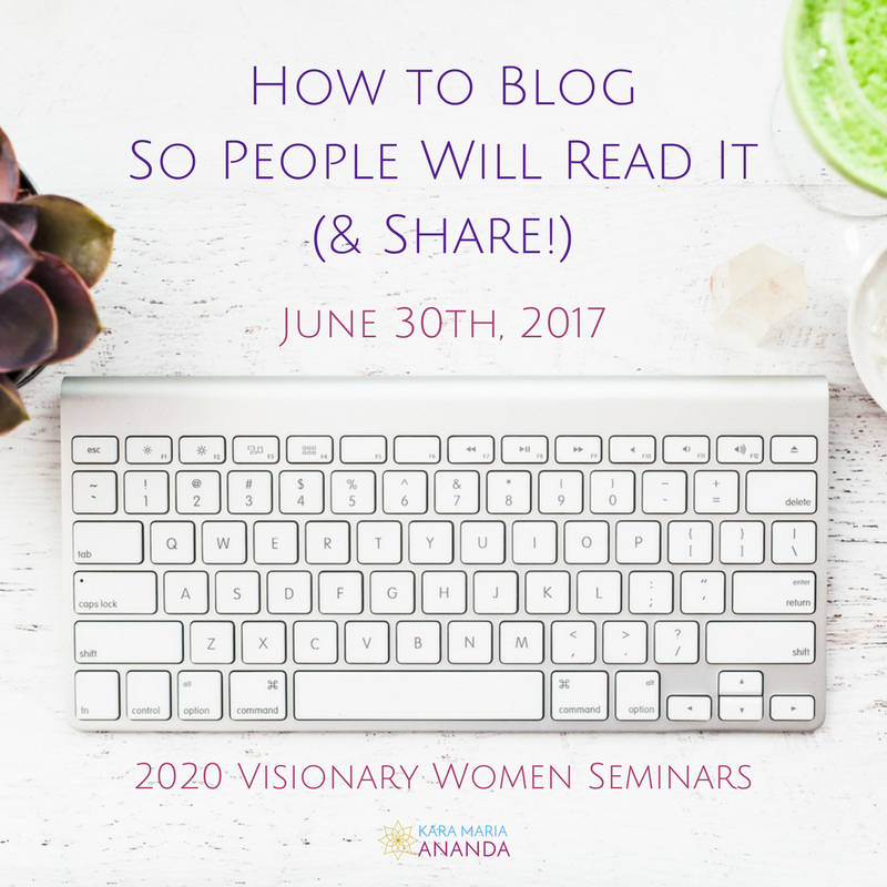 How to Blog So People Will Read It (& Share!) - 2020 Visionary Women Seminar