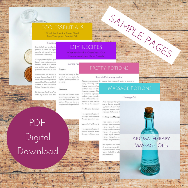 Essential Potions Eco-Beauty Recipe Book with Essential Oils