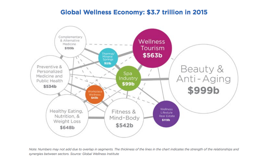 Global Wellness Institute,  Global Wellness Economy Monitor , January 2017