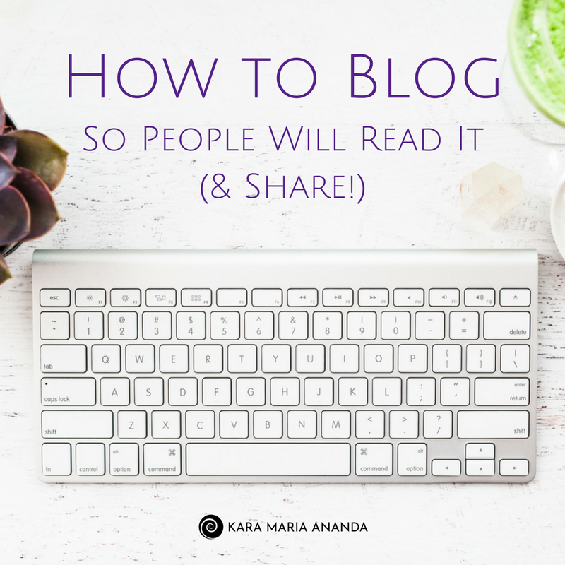 How to Blog So People Will Read It & Share
