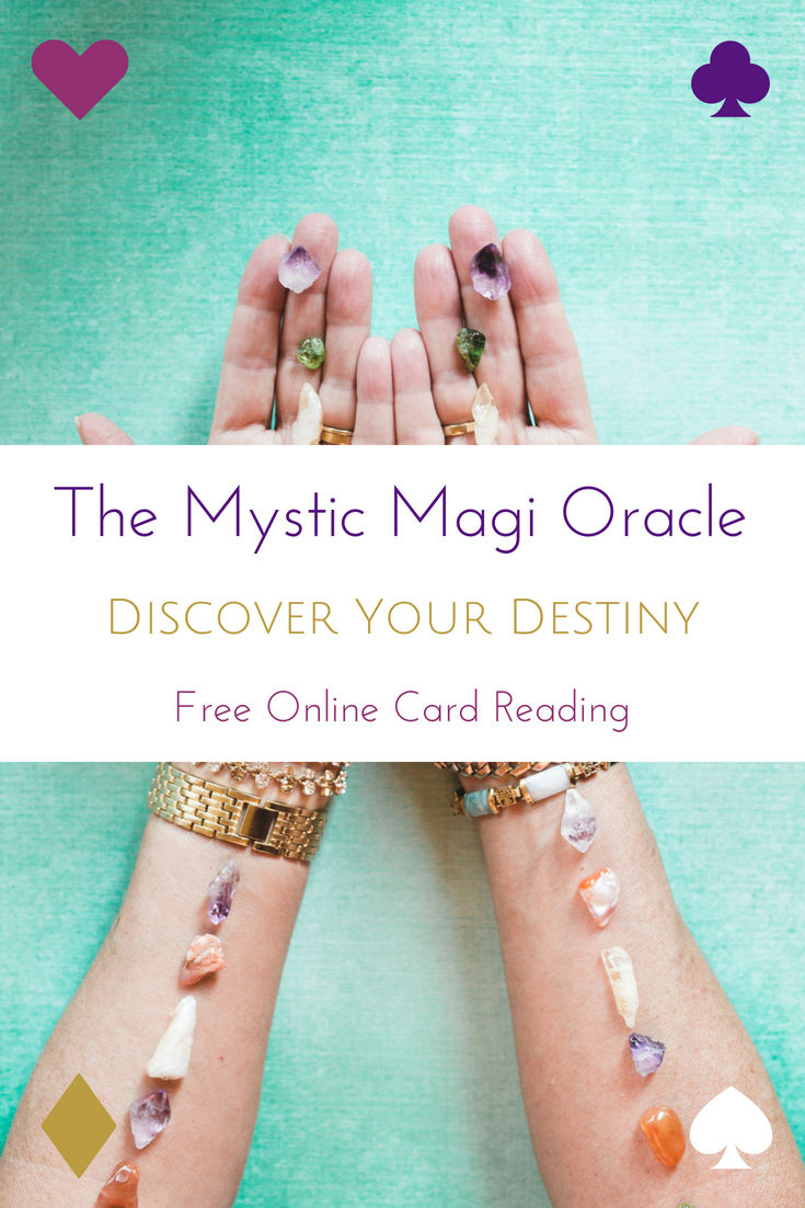 The 52 cards of the playing deck are an ancient book of the Magi for fortune telling, prosperity, and love.