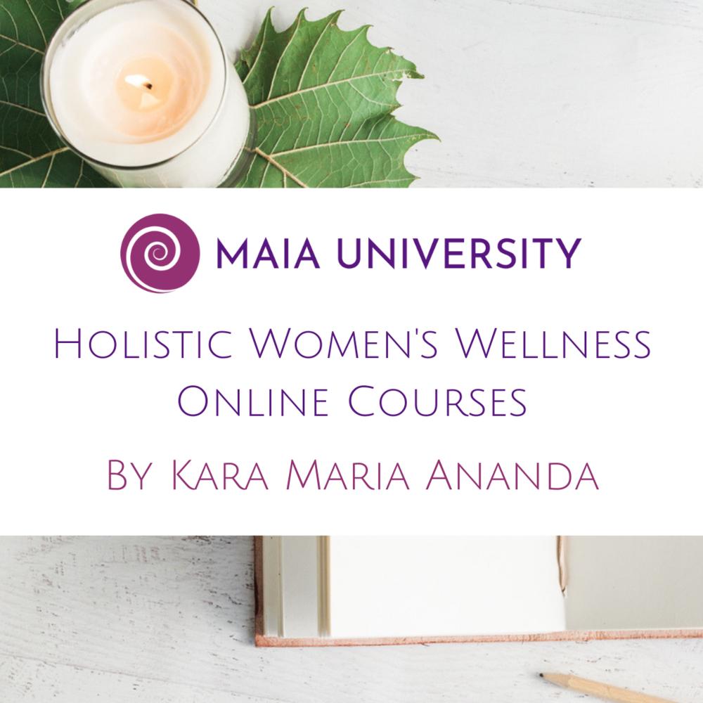 Maia University Holistic Women's Wellness Courses Online