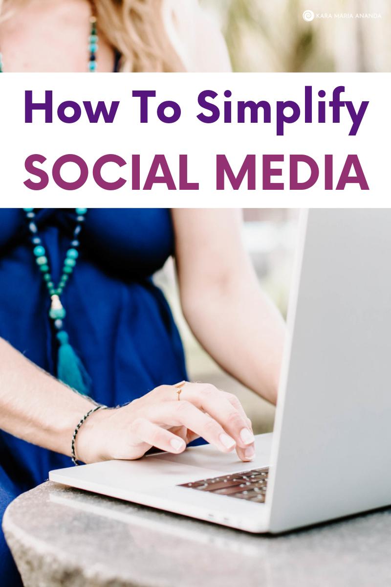 How to Simplify Social Media