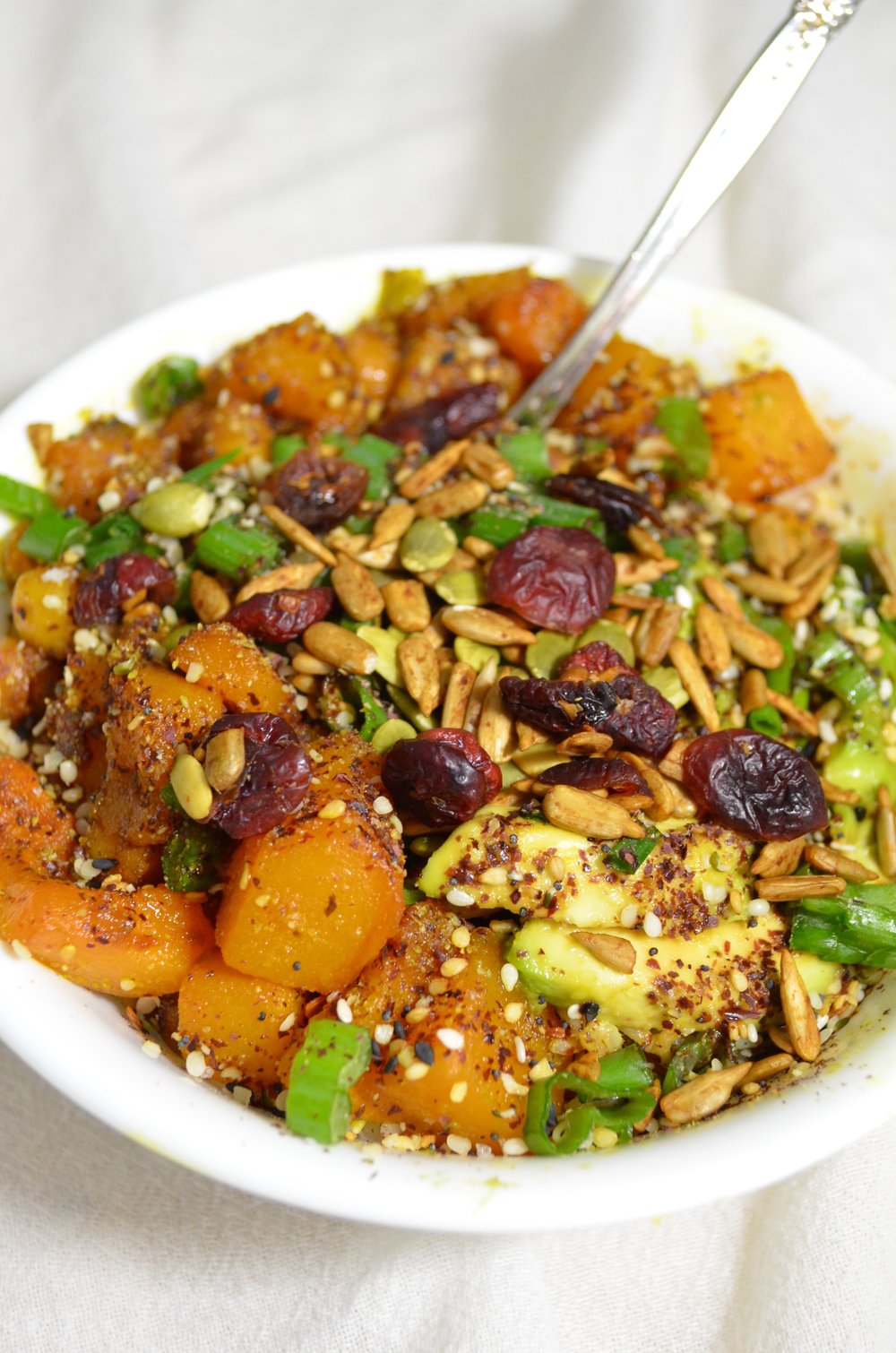 Maple Roasted Butternut Squash and Chickpea Rice Bowl Recipe