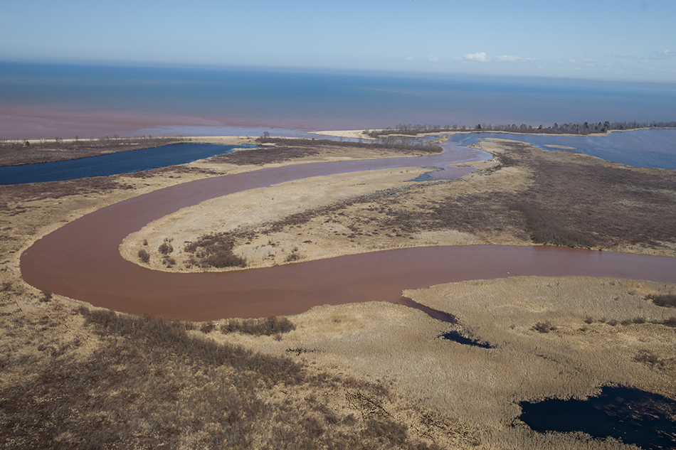 The mouth of the Bad River.