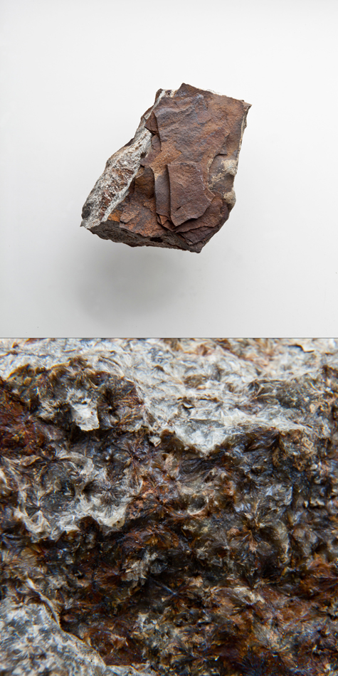 Grunnerite with Limonite in Banded Iron Formation -Ironwood Iron Formation.jpg