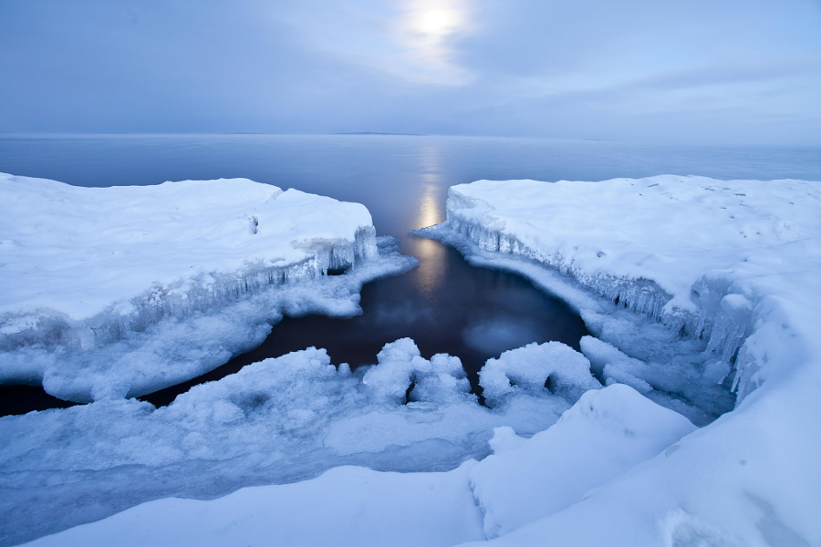 Ice-Souix Beach, Lake Superior